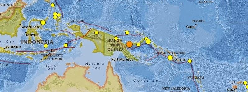 TERREMOTO 6,4 GRADOS EN PAPUA NUEVA GUINEA