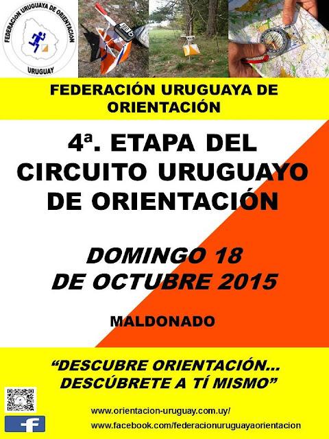 Circuito uruguayo de orientación en Maldonado (4a. fecha, 18/oct/2015)