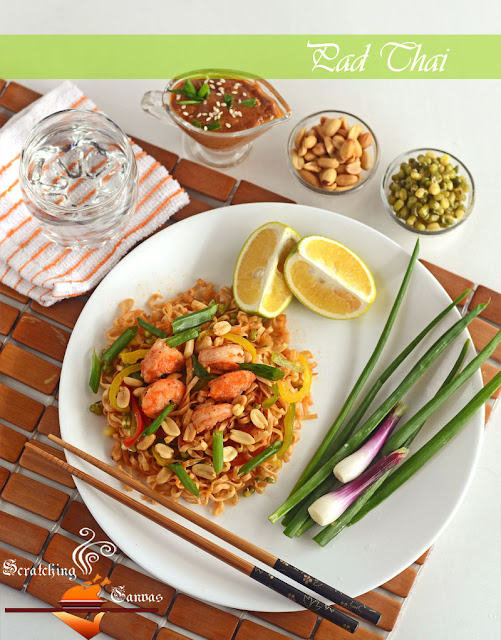 Tradiional Shrimp Phad Thai