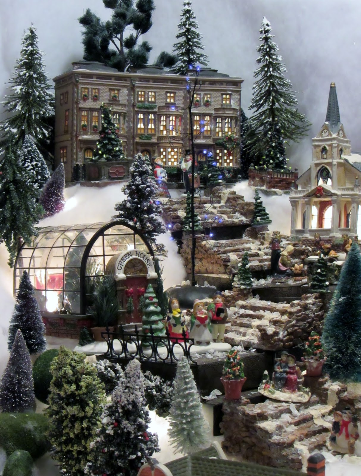 christmas village inspiration