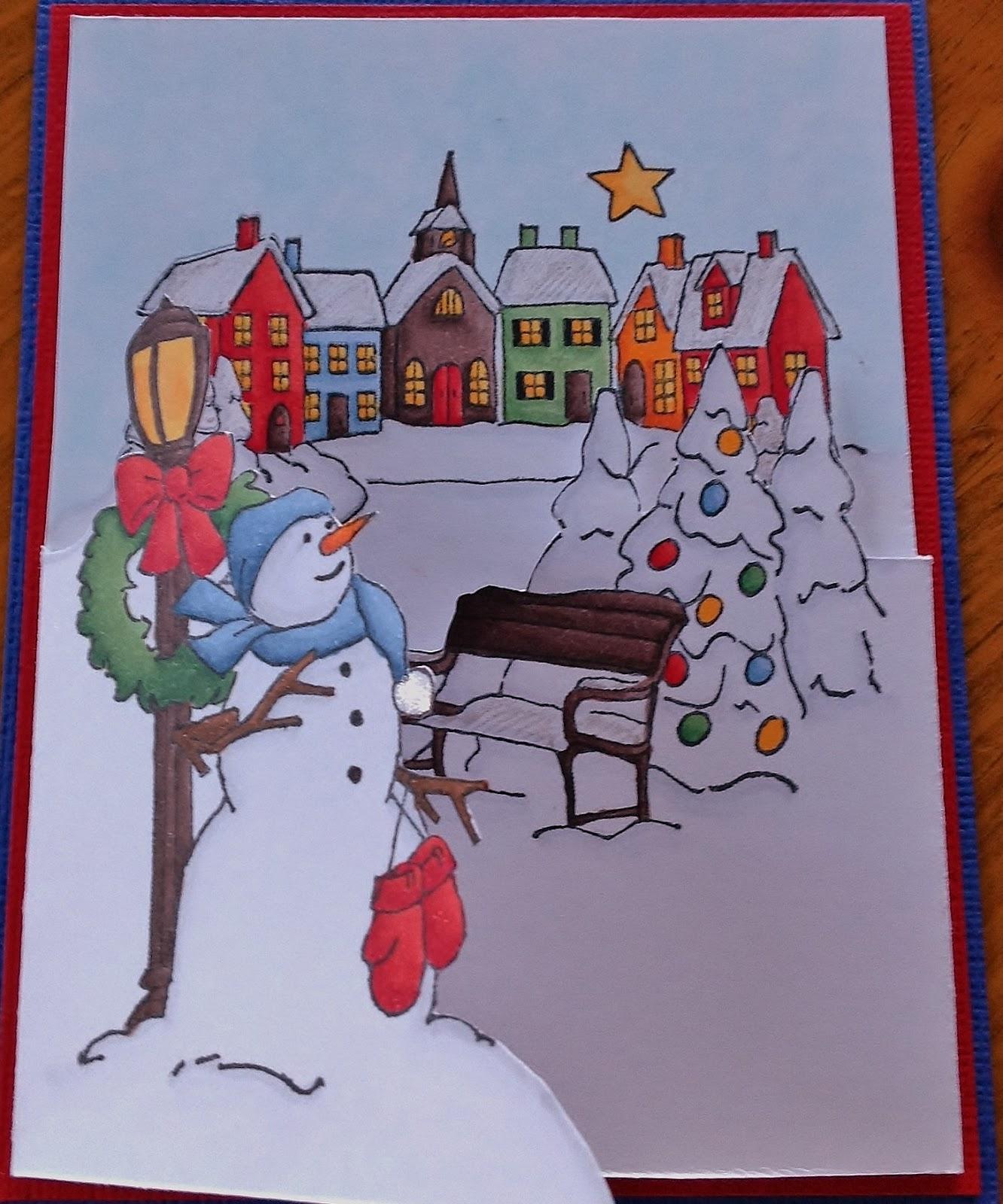 Crystal\'s crafty corner: Tri-fold card Christmas
