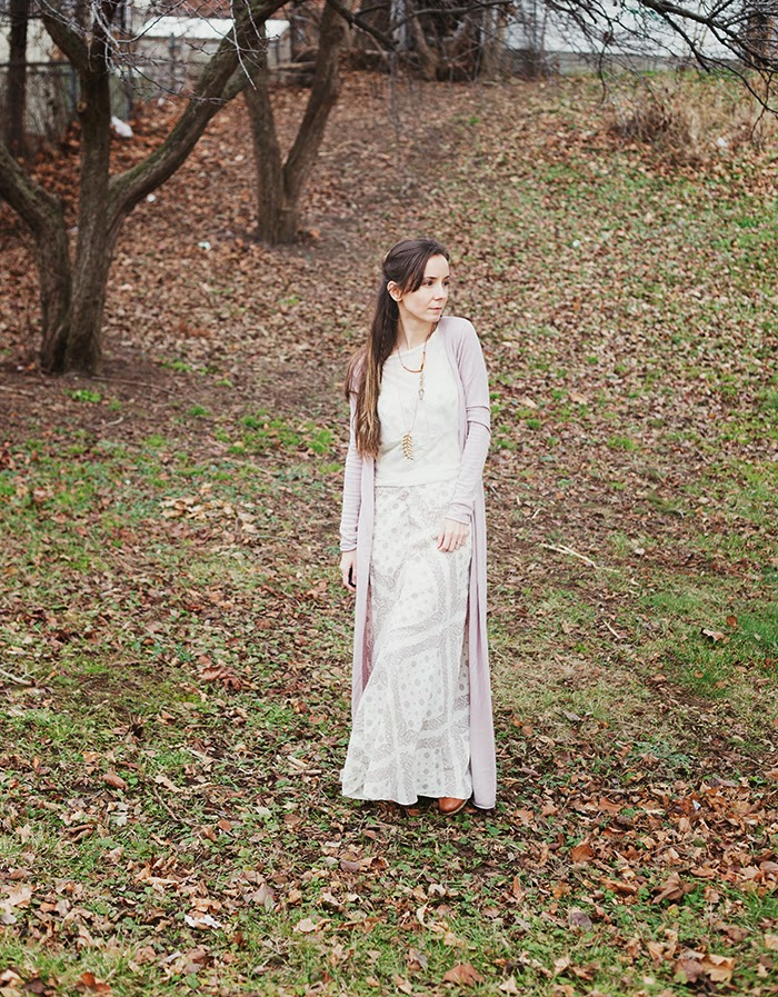 Boho-maxi-dress-long-cardigan