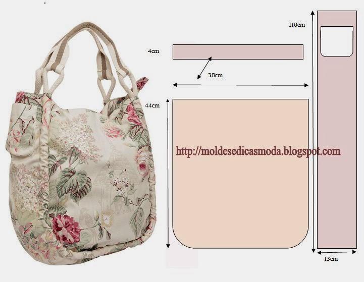 Выкройка летней сумки из ткани своими руками
