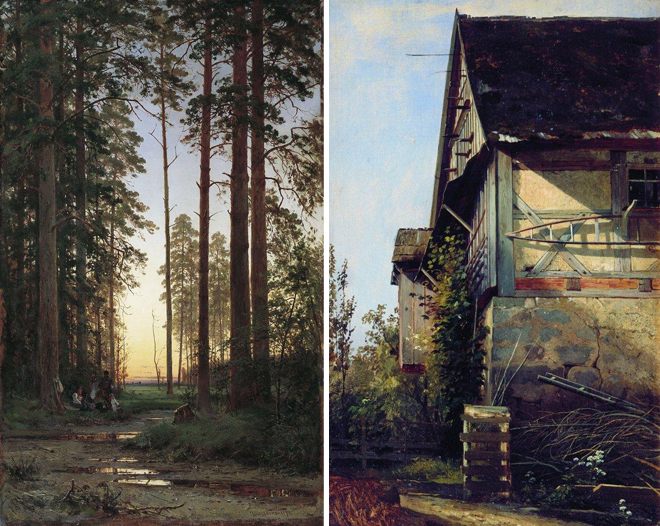 The Flying Clubhouse: Shishkin's Forest // Paintings