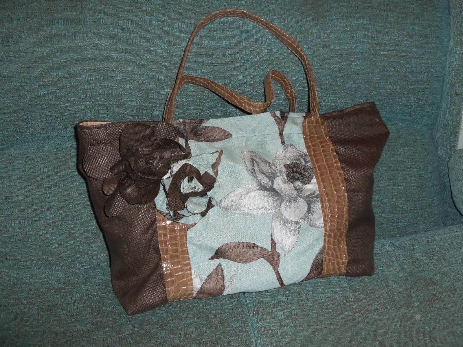Lupe salamanca bolso de distintas texturas en tonos marrones - Telas salamanca ...