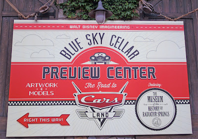 Blue Sky Cellar sign DCA Disney California Adventure Cars Land