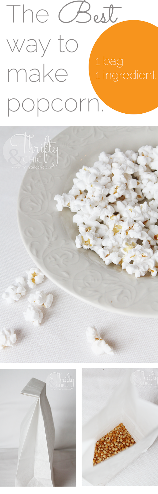 The BEST way to make popcorn - 1 bag, 1 ingredient! So easy and yummy!