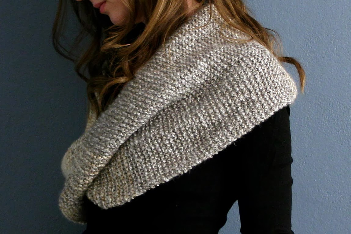 Infinity Scarf Knitting Pattern Garter Stitch : Cozy Cape Cottage