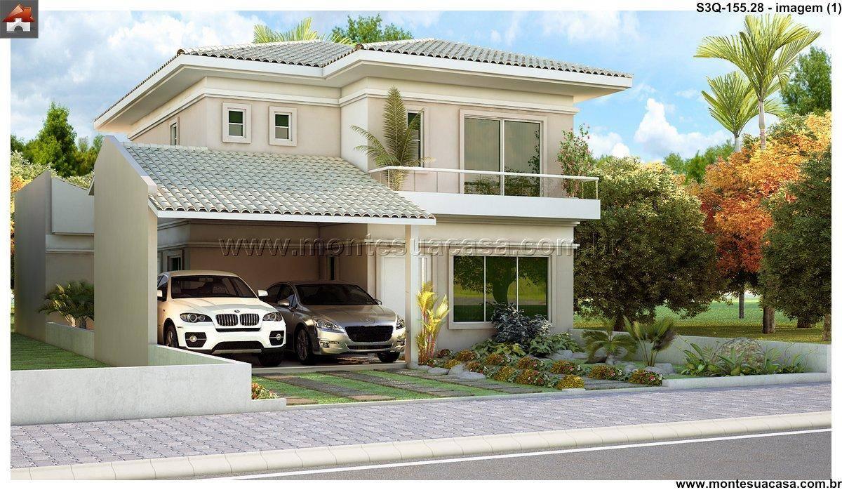 Plantas de casas com tres quartos e suite for Casa de tres plantas sylvanian