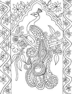 Peacock Adult Coloring Pages Printable