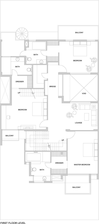 First floor level floor plan