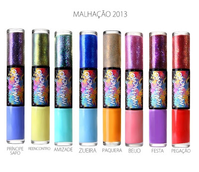 Quais as cores dos esmaltes da novela Malhação 2013