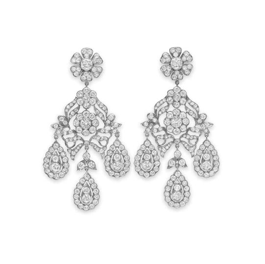 Elegant These were the original chandelier earrings first worn in th century France when ladies started to wear their hair up The name es from the crystal