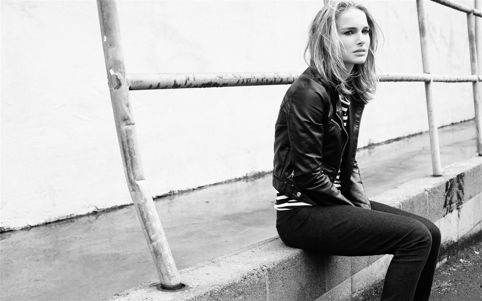 Natalie Portman Black and White Image