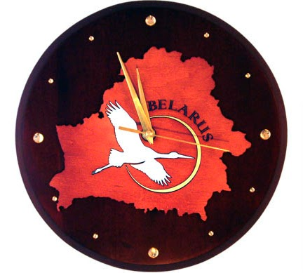 Clock with image of white stork - Belarus