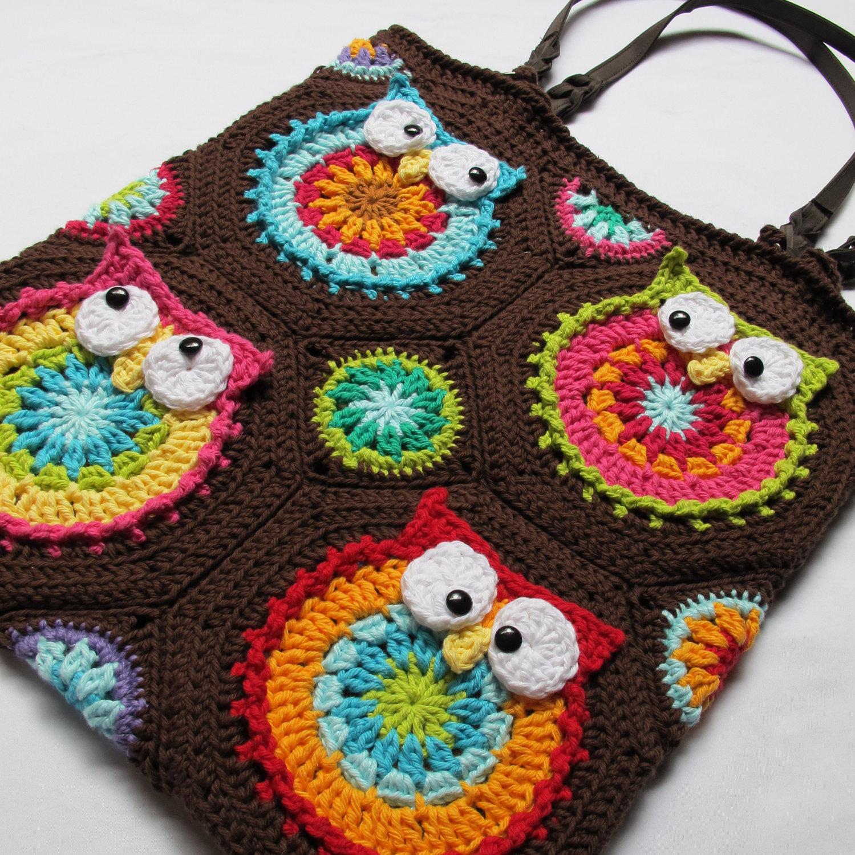 Owl Tote Crochet Pattern