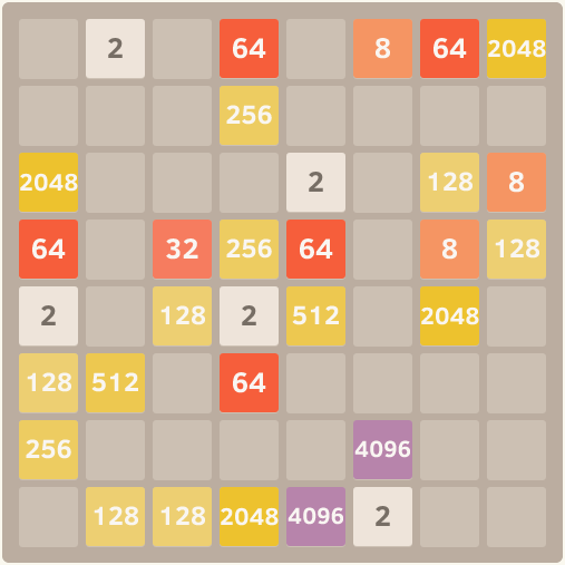 instance might look like this: An example instance of pen/paper 2048 ...