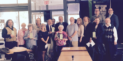 All of the award winners and presenters at the Winnipeg Free Press News Cafe 237 McDermot Avenue.