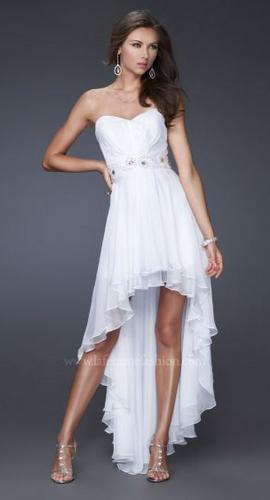 Vestidos de novia corto adelante y largo atras