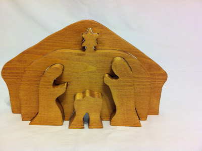 3D nativity puzzle Christmas Baby Jesus Mary Joseph handmade wooden by GrumpaandMe
