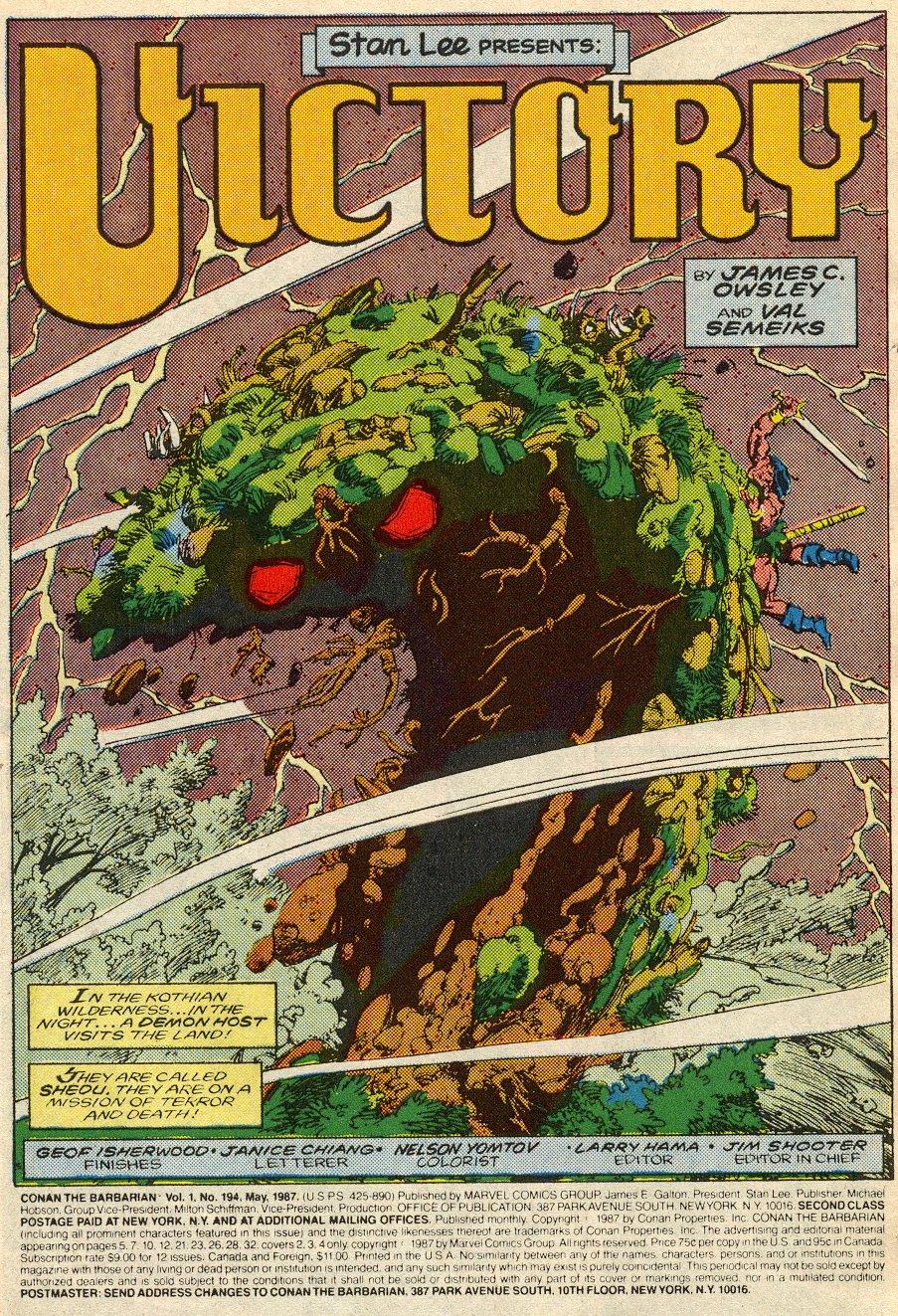 Conan the Barbarian (1970) Issue #194 #206 - English 2