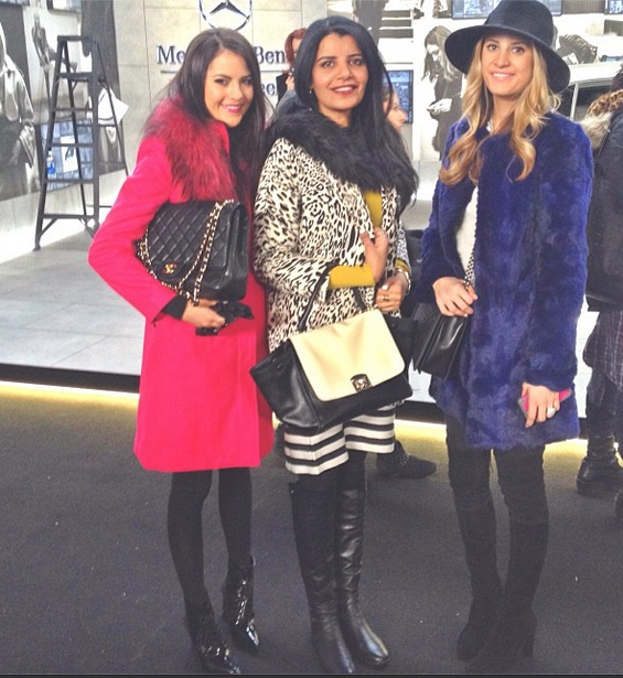 Bloggers at BCBG Max Azria Fall 2014, New York Fashion Week, NYFW Fall 2014