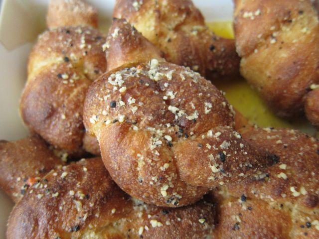 Knotty Garlic Bread Stuffed or Knot
