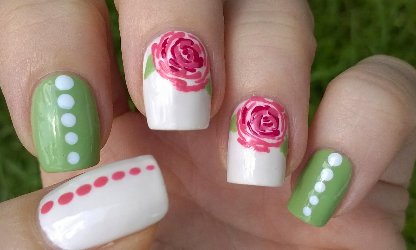 Life World Women: Romantic Rose Nail Art