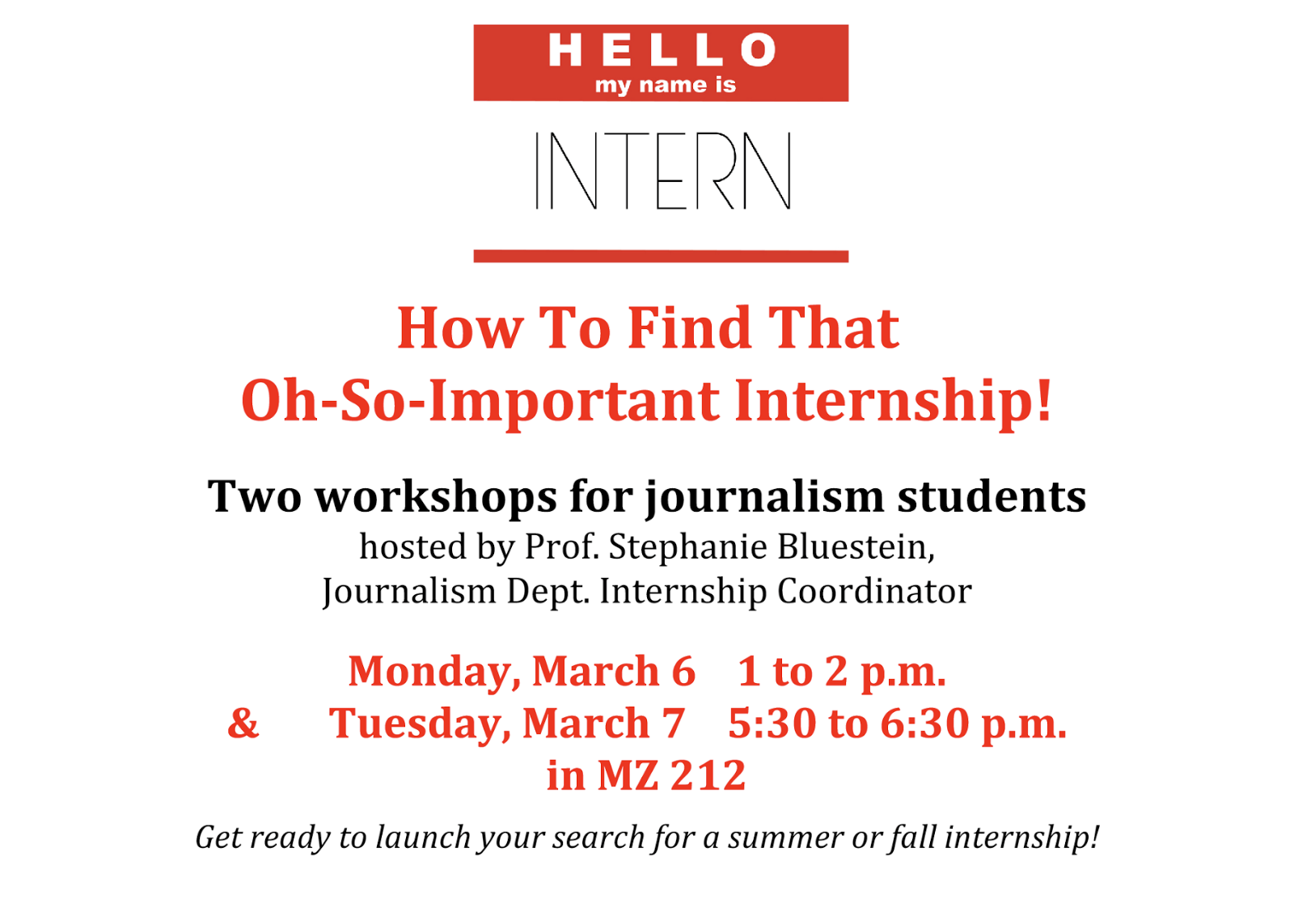 journalism cover letter internship How to: write a covering letter and cv tips from editors and hr managers on how to apply for a job in journalism.