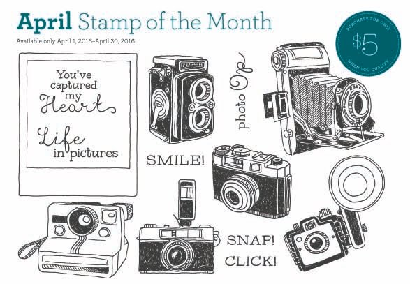 Close to My Heart APRIL Stamp of the Month