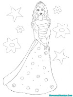 Mewarnai Gambar Barby Dan Bintang-Bintang