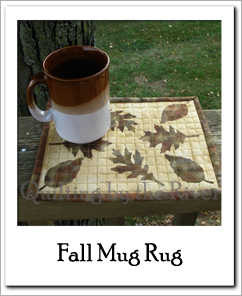 Fall Mug Rug at Freemotion by the River