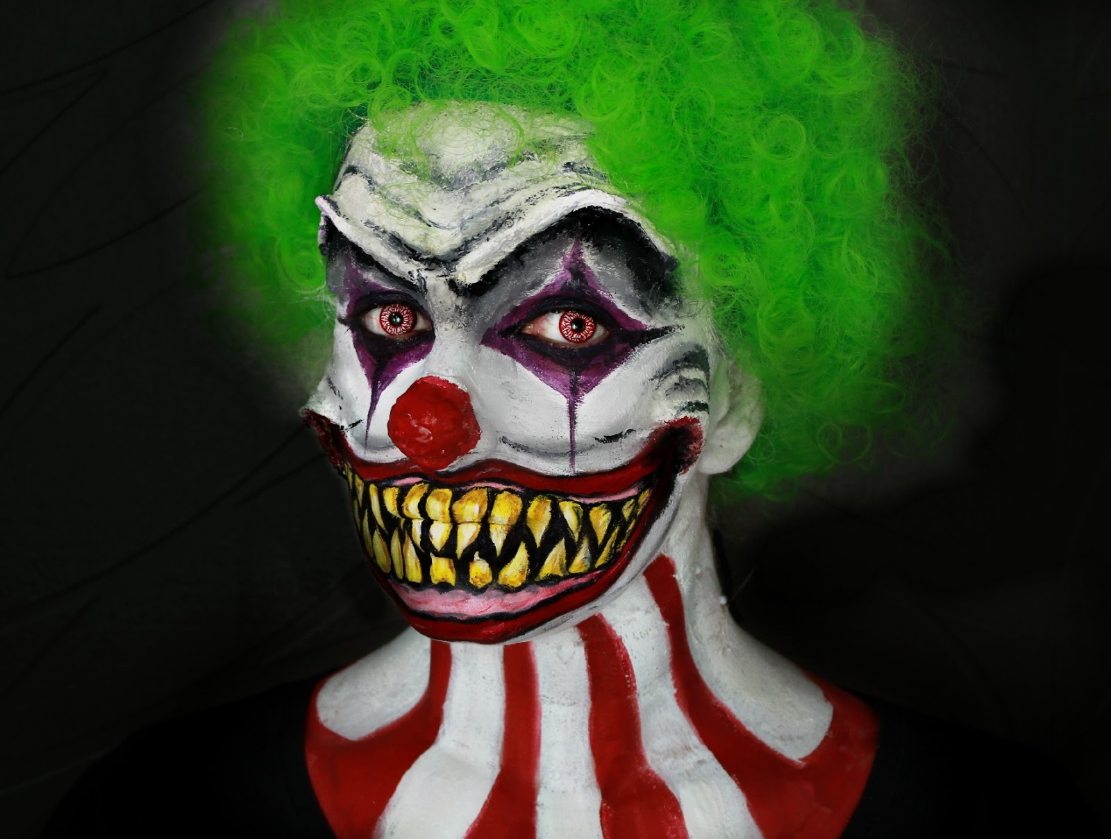 maquillage halloween clown gentil. Black Bedroom Furniture Sets. Home Design Ideas
