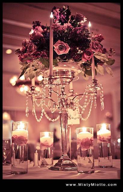 Walt Disney World floral centerpieces at Disney wedding