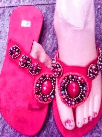 sandal cantik apr04 warna merah