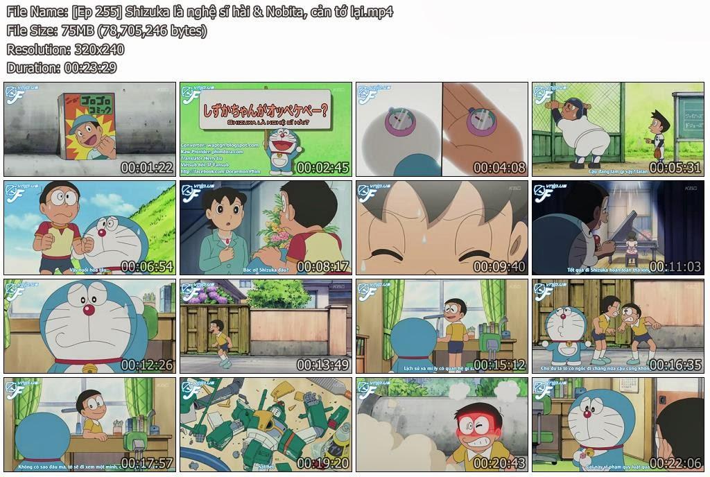 [Doraemon Ep 255] Shizuka là nghệ sĩ hài? & Nobita, cản tớ lại