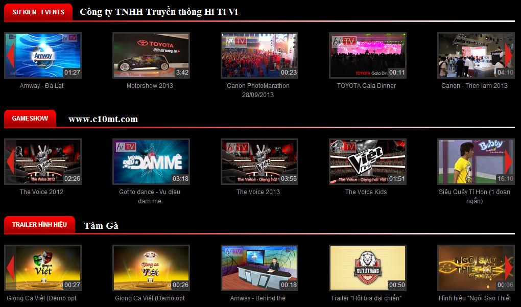 Các chương trình của công ty TNHH Truyền thông HiTiVi
