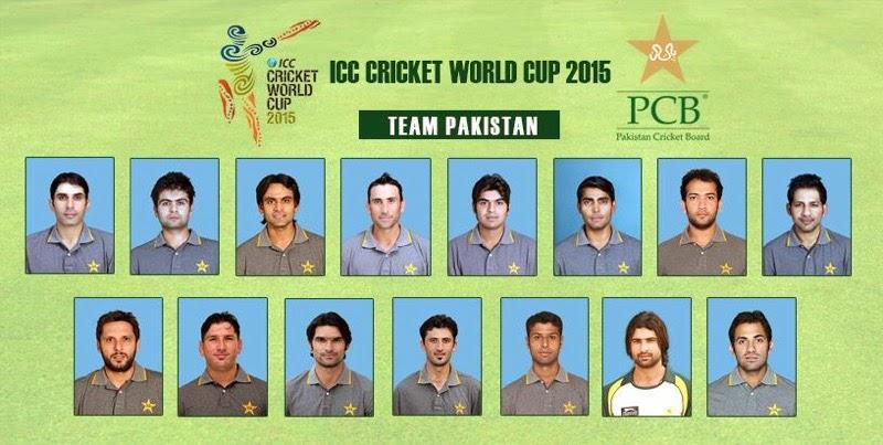 Pakistan Squad ICC World Cup