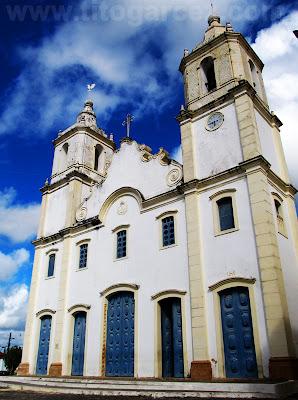 Fachada frontal da Igreja Matriz Nossa Senhora da Vitória, em São Cristóvão - Sergipe