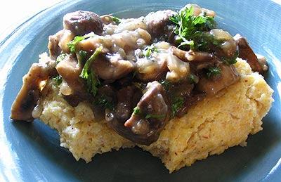 Polenta with Mushroom Ragout