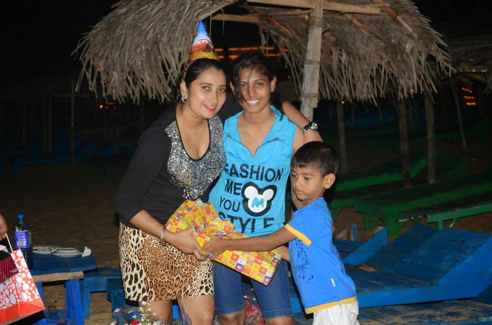 Madhu's birthday celebration @ Hikka beach