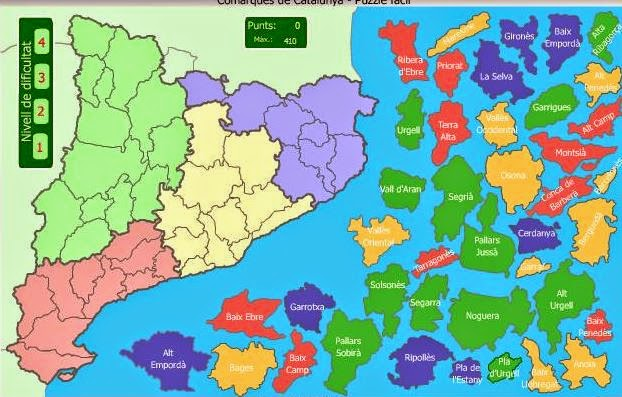 Encaix fàcil de les comarques de Catalunya