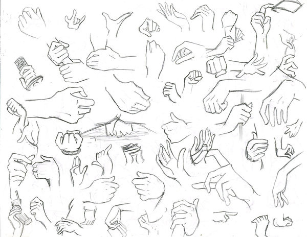 كيفية رسم اليد
