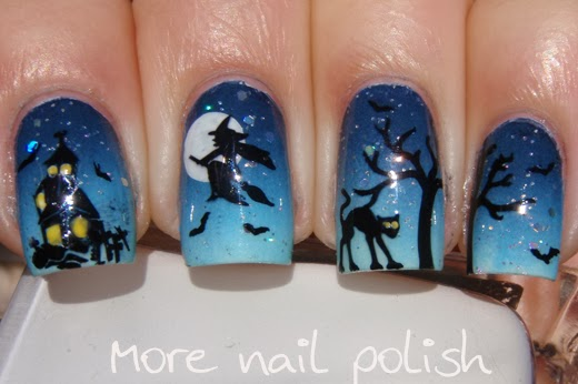 Halloween Nail Art The Witch Returns More Nail Polish