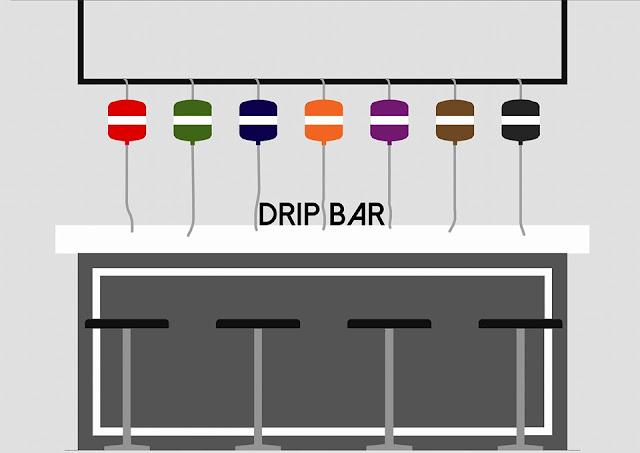 Esme Rainbow Drip Experince, Drip Bar