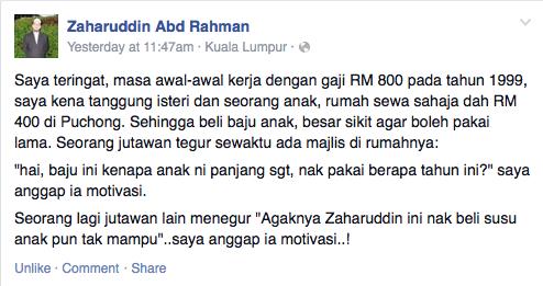 Biar betul Pendapatan Ustaz Zaharudin sebulan RM800 je