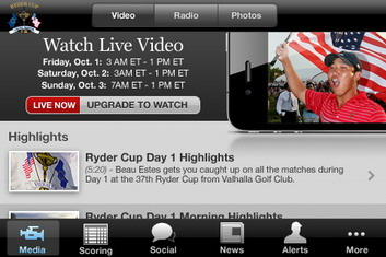2010 Ryder Cup iPhone App available for download