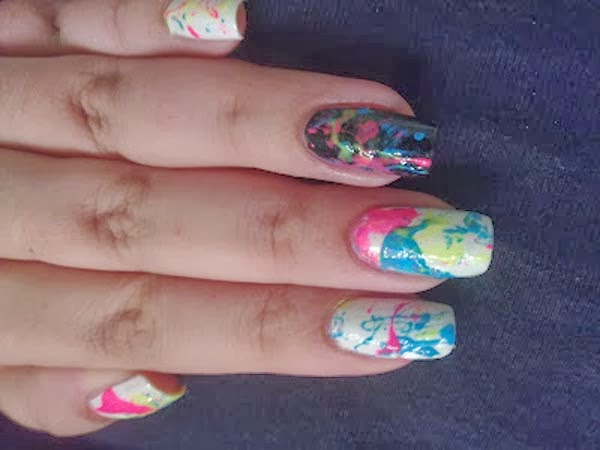 nail art splatter 01