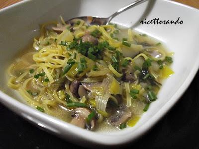 Minestra delle Ardenne ricetta di zuppa di verdura e pasta fatta in casa