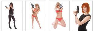 Bikini girls with guns